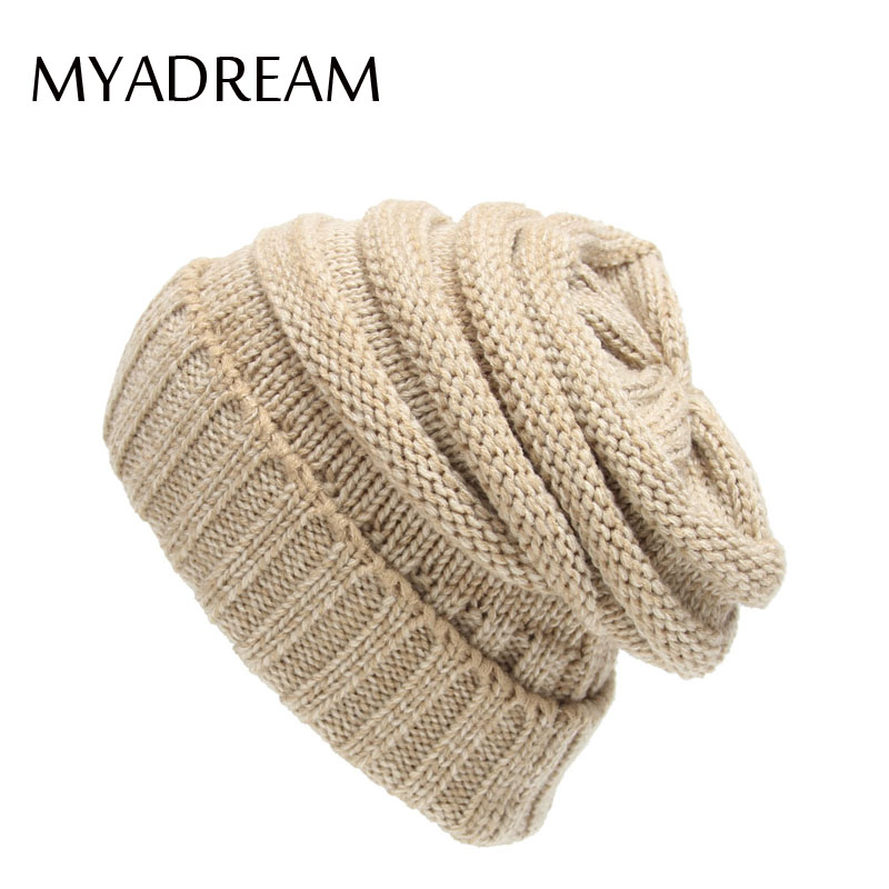 MYADREAM Knitted Hats for Women Beanie Skullies Ear Protect Winter Cap Casquette Homme Gorro Feminino Ski Snowboard Wool Hat leather skullies cap hats 5pcs lot 2278