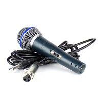 BETA58A переключатель профессиональный проводной портативный динамик Mic вокальный микрофон караоке Системы для Бета 58A с разъемом 6,5 мм аудио л...