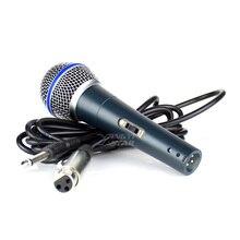 BETA58A переключатель профессиональный проводной портативный динамик Mic вокальный микрофон караоке Системы для Бета 58A с разъемом 6,5 мм аудио линии