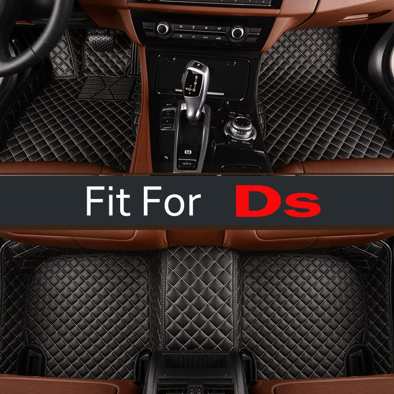 Red Car Trunk Mats For Ds All Models Ds3 Ds4 Ds4s Ds5 Ds6 Custom Cargo Liner Right Hand Drive Car Styling Carpet custom cargo liner car trunk mat carpet interior leather mats pad car styling for dodge journey jc fiat freemont 2009 2017