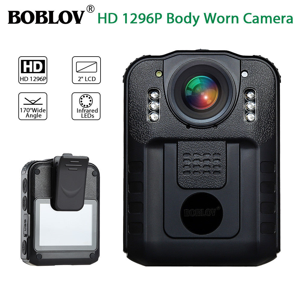 цены BOBLOV WN9 Novatek 96650 2.0 Inch LCD HD 1296P Police Camera Infrared Night Vision Audio Video Recorder USB Body Worn Camera