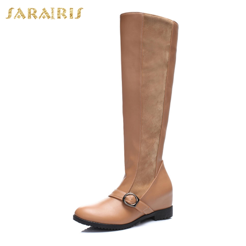 Tacón Sarairis Zapatos 34 Por Cuadrado Venta Apricot Pantorrilla Media Botas Mayor Nueva marrón Al Tallas Grandes Albaricoque Moda De Mujer Negro 40 black qw7vq