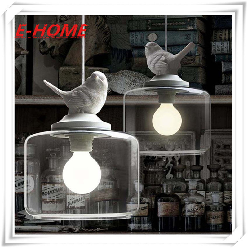 Creative American glass chandelier one head bird led hanging lamp dinner room Restaurants, shops Modern Creative Cafe