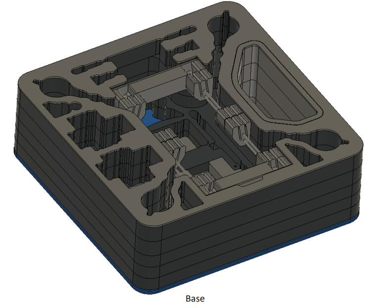 Full Size 692*692*260mm Black Color Waterproof Customized EVA Foam 40 Hardness