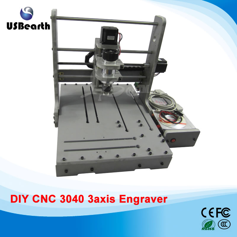 cnc Engraving machine DIY cnc frame 3040, upgraded to 3 axis CNC Router /Engraving Drilling and Milling Machine jft cnc router 3040 600w 4 axis with usb 2 0 port high precision mini jewelry cnc router wood engraving drilling milling machine