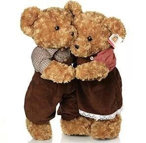 8b134ef26cd Super Cute South Korea Teddy Bear Clothes Plush Toy Baby Soft Stuffed  Animals Doll Kids Toy