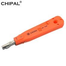 CHIPAL 10 шт. пуансон набор инструментов KRONE LSA-Plus с датчиком для телекоммуникационный телефонный Ethernet сети RJ11 провода Cat5 RJ45 кабель
