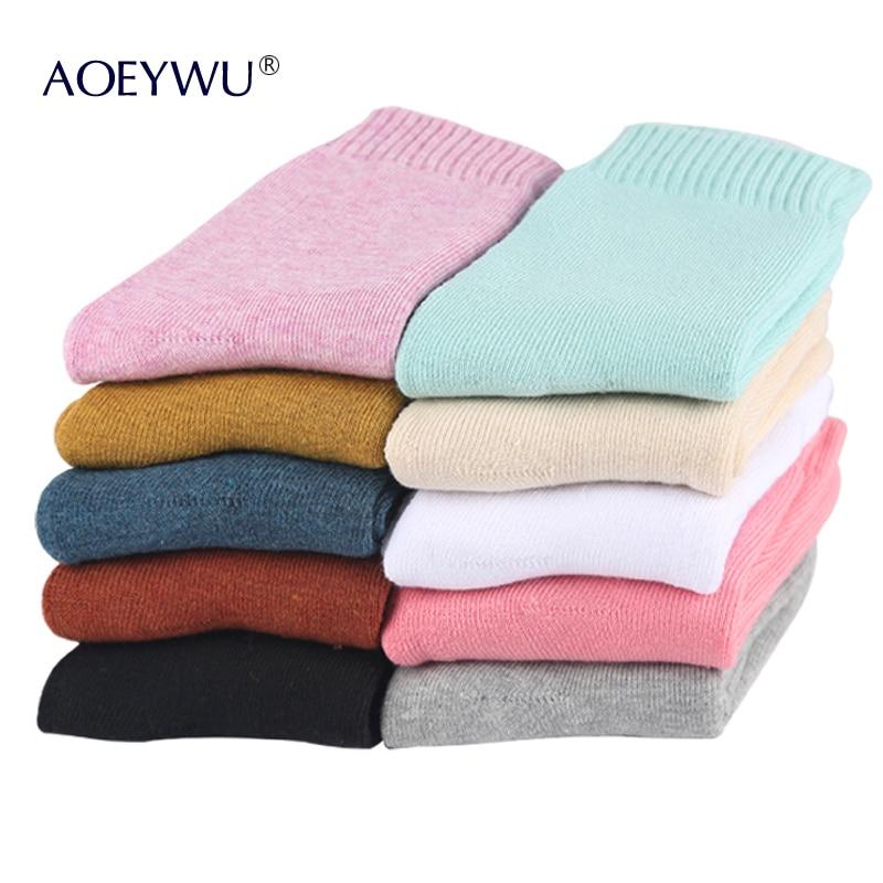 10Pairs/Lot Eur36-42 Women Winter Thicken Terry Socks Female Warm Hot Cotton Socks