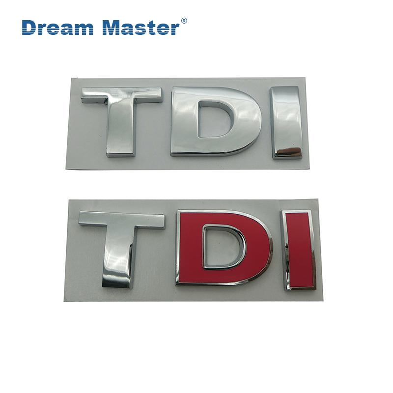1PCS 3D Metal TDI Emblem Car Styling Badge <font><b>Sticker</b></font> Decal for VW Volkswagen Tiguan Polo <font><b>Golf</b></font> <font><b>4</b></font> 5 6 MK6 7.8*2.2cm free delivery image