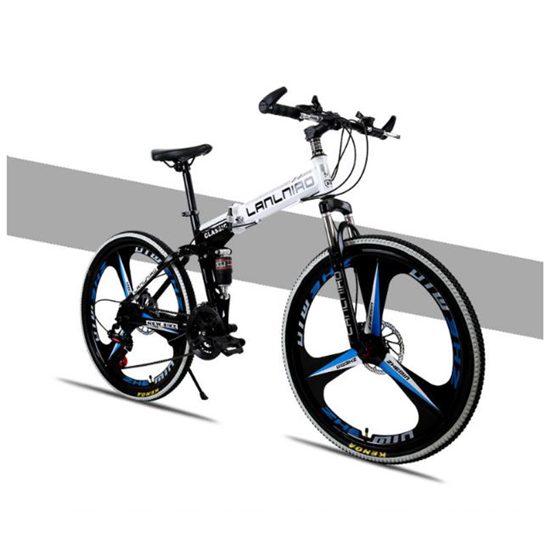 Folding Bicycle 20 Inches Aluminum Alloy Double Disc Brake Soft Tail Frame Both Men And Wome