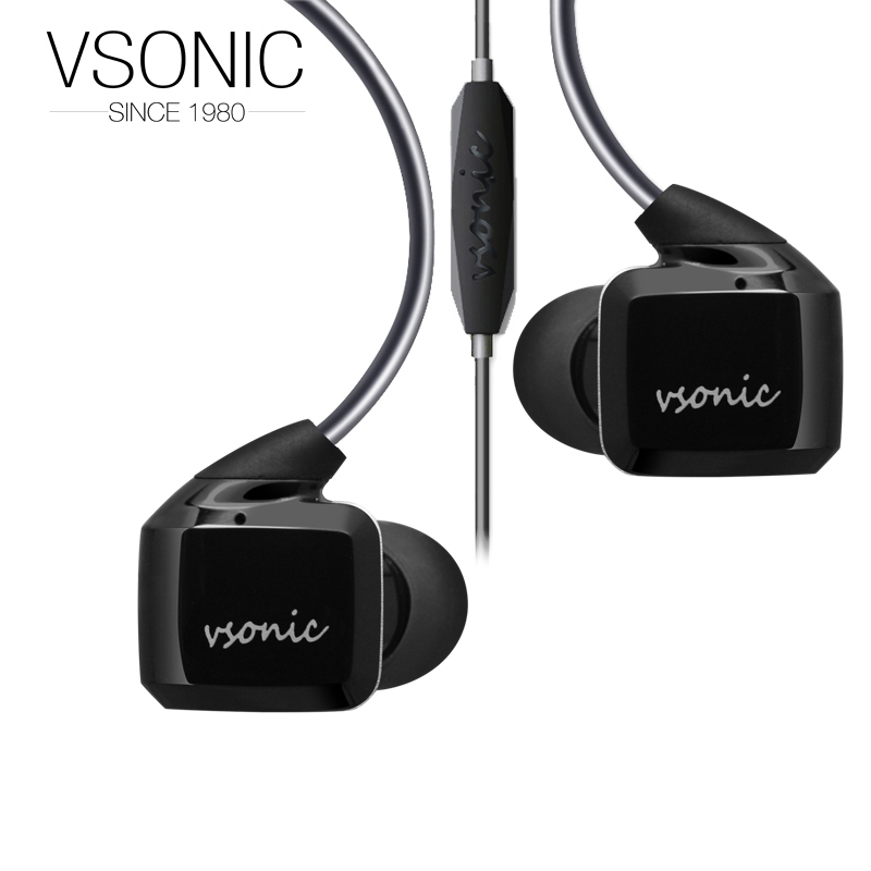 VSONIC 2018 NEW GR07 i Low Impedance In-Ear In-line control Earphone 32ohm Dynamic Noise Isolation HIFI Earphones new vsonic new gr07 bass classic interchangeable cable high dynamic noise isolation earphones