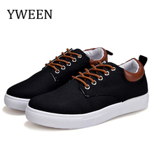 YWEEN Mens Casual Shoes,Man Spring Style Flats For Men Solid Canvas Shoes