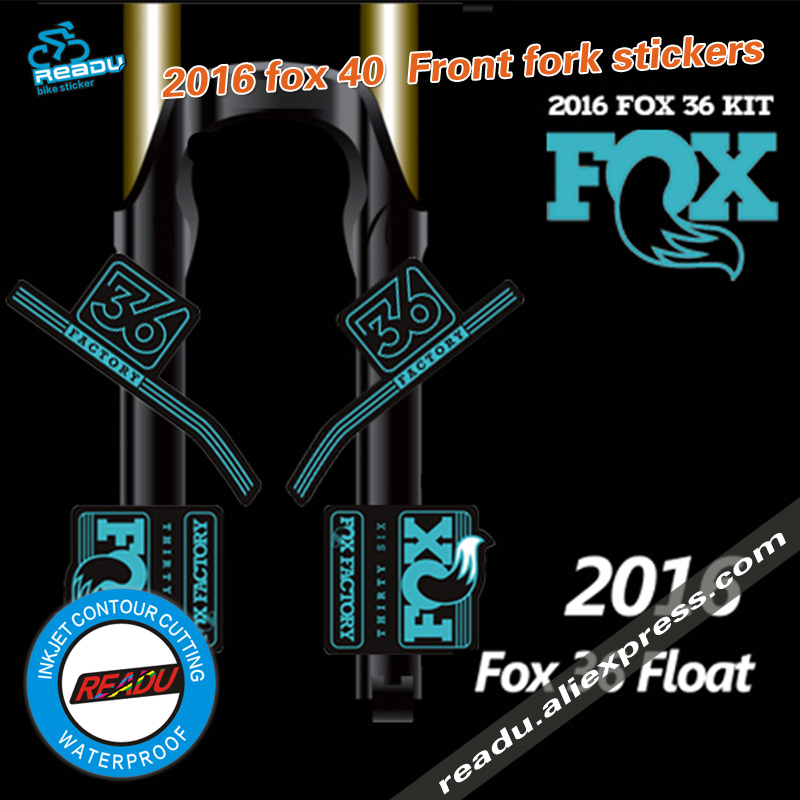 Fox 32 BLUE FORK Stickers Decals Graphics Mountain Bike Down Hill MTB