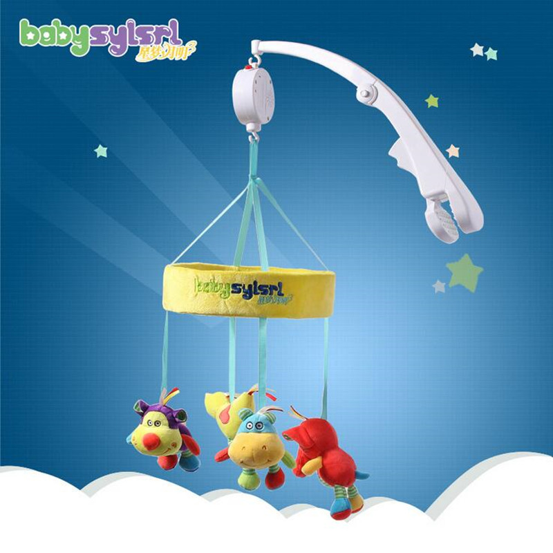 BABYSYLSRL Electric Control Musical Bed Bell Crib Mobile Toys with standard and Soft Picture Toy  baby mobile