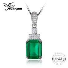 Jewelrypalace 4.5ct creado nano ruso esmeralda colgante plata de ley 925 joyas de plata para las mujeres joyería fina sin la cadena