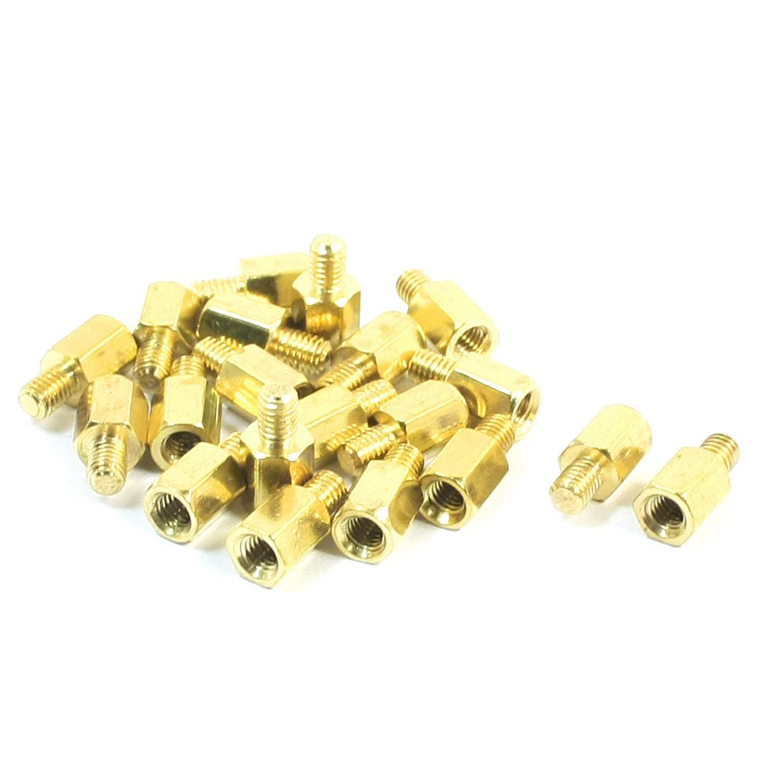 20 Pcs PC PCB Motherboard Brass Standoff Hexagonal Spacer M3 6+4mm 10x 6 5mm brass standoff 6 32 m3 pc case motherboard riser screws washers