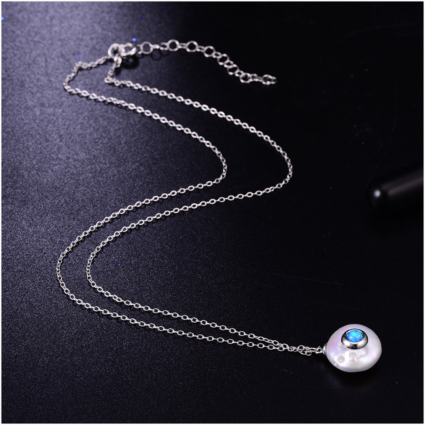 HTB1zWFwXPzuK1RjSspeq6ziHVXaM Hongye 2019 New Fashion Freshwater Pearl Necklace Women 925 Sterling Silver Chain 12mm Pearl Pendant  Jewelry Necklace For Gift