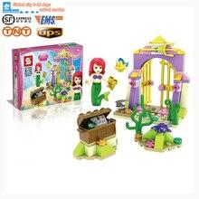 SY320 Mermaid Minifiguren Ariel's Verbazingwekkende Schatten Bouwstenen Baksteen Prinses Aciton Cijfer Speelgoed Brick Girl Toy