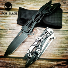 220mm 5CR15MOV Blade Knives Stainless Steel Handle Folding Hunting Knife Camping Pocket Tactical Knifes Outdoor Survival Tool цены