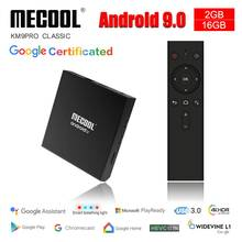 Mecool KM9 Klasik Klasik Konsol Amlogic S905X2 Adnroid 9.0 2G 16G 4K Chrome Cast Kontrol Suara Android TV Box Smart Awalan(China)