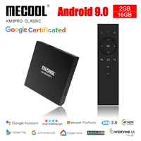 Mecool KM9 Pro Classic Console Amlogic S905X2 Adnroid 9.0 2G 16G 4K Chrome Cast Voice Control Android TV Box Smart Prefix