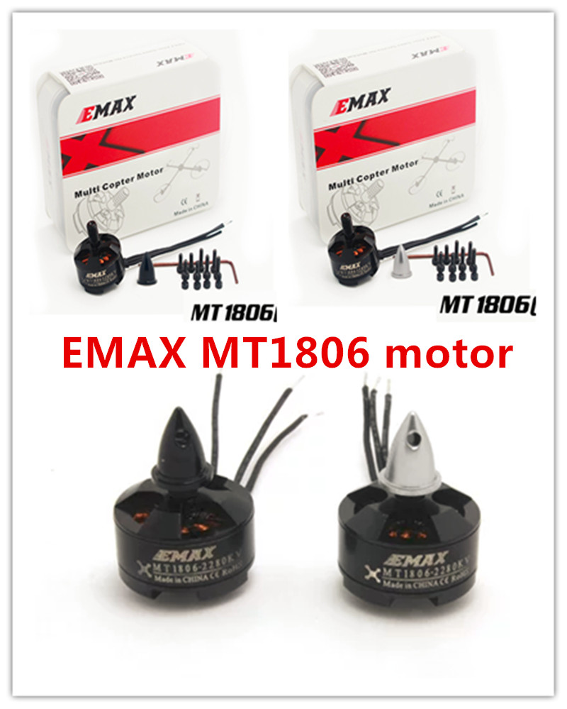 цена на Original 4pcs/Lot Emax MT1806 2280KV CW / CCW Brushless Motor for FPV mini QAV210/180/QAV250 quadcopter rc helicopter MultiMate