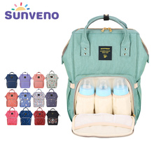 New Upgraded Sunveno Fashion Mummy Maternity Nappy Bag Large Capacity Baby Bag Travel Backpack Designer Nursing Bag Baby Care(China)