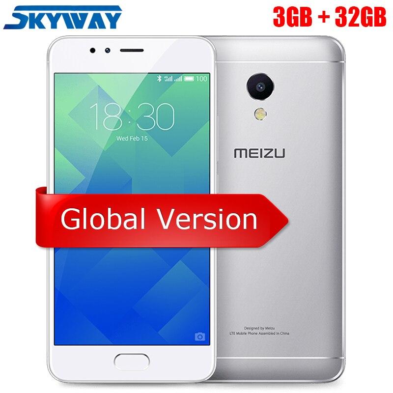 Оригинал MEIZU M5S глобальной версии 3 ГБ Оперативная память 32 ГБ Встроенная память сотовый телефон 5,2 дюймов Восьмиядерный быстрой зарядки мобильного телефона