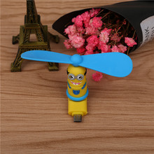 SIANCS Mini Cute cartoon 8 Pin Micro usb Flexible Mini Fans for Samsung Xiaomi Android Phone Hand Fan for iPhone 5 6 6s 7 7 plus