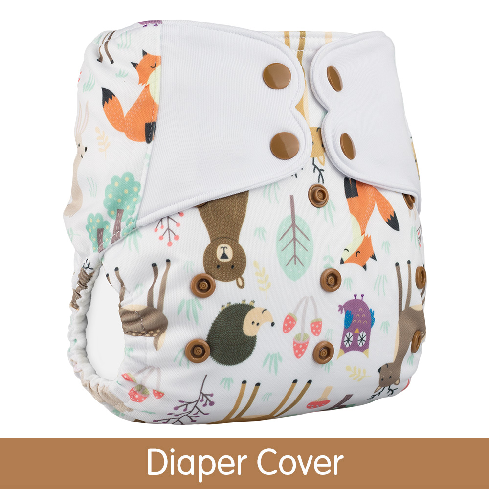 ElfDiaper New Arrival Diaper cover no pocket washable baby nappy cloth diapers nappies(China)