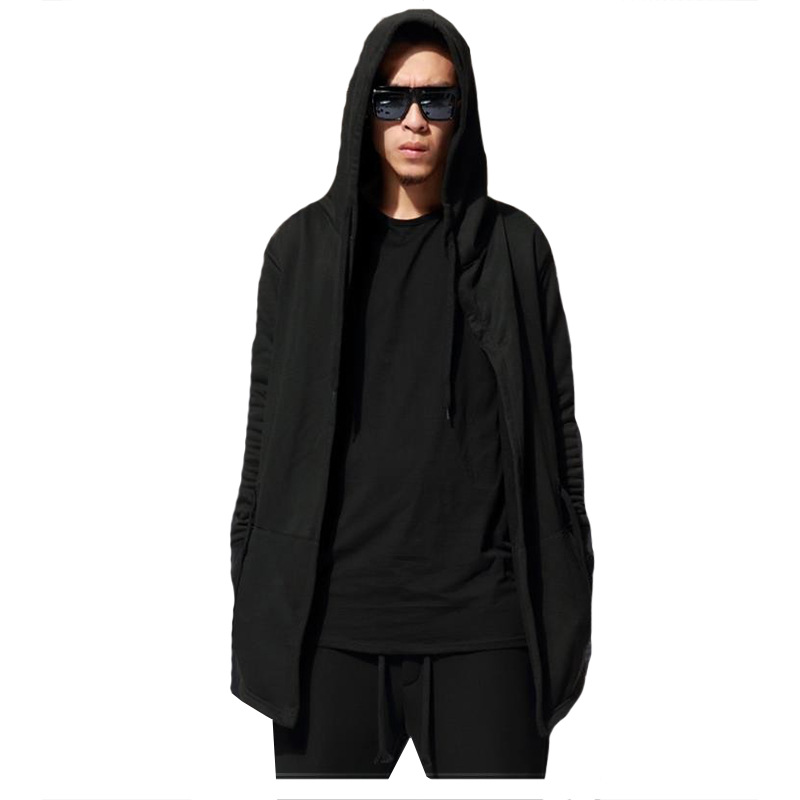 fb6af15ee7 New arrival mens hooded cloak long sleeve hoodie hip hop streetwear  sweatshirt wizard clothing men harajuku coat chandal hombre-in Hoodies    Sweatshirts ...