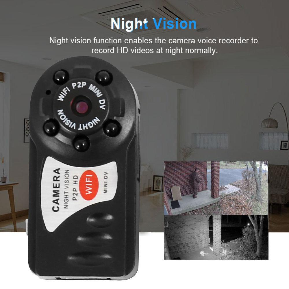 Q7 HD Mini WIFI Camera Wireless DV DVR IP Camera mini video camcorder  recorder infrared day and night vision