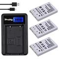 PROBTY 3Pcs EN-EL5 EN EL5 Li-ion Camera Battery + LCD USB Charger For Nikon Coolpix P80 P100 P500 P510 P5000 P5100 3700 4200