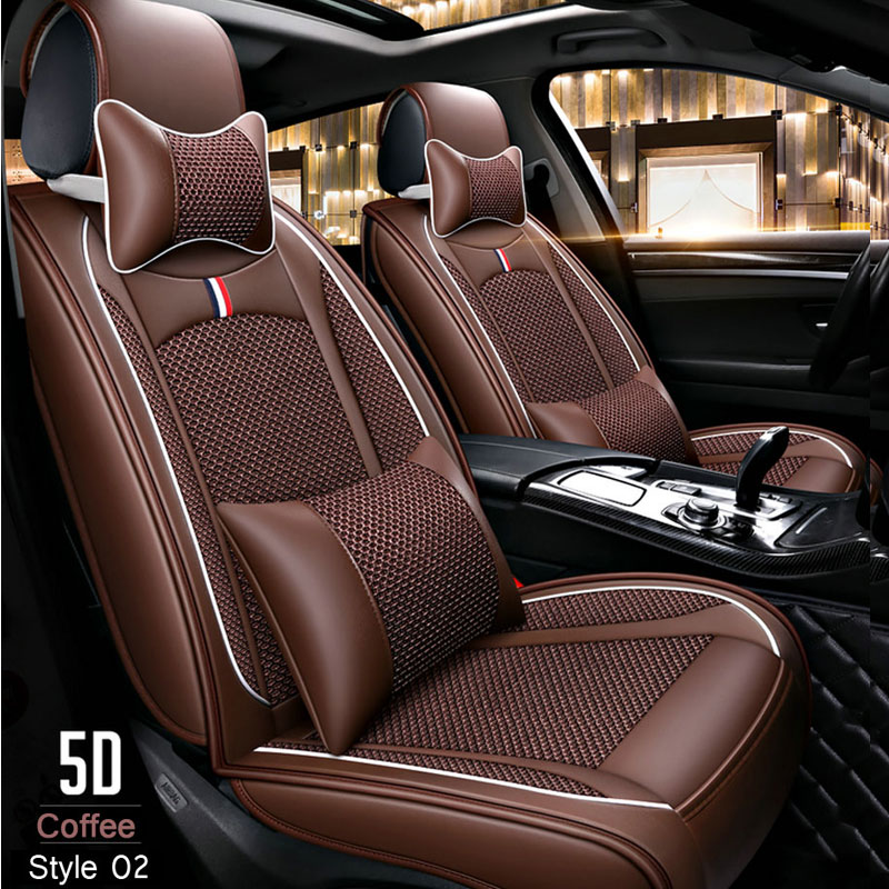 Lunda Car-Seat-Covers Universal Auto Waterproof Nissan Honda Toyota Size PU for 5-Colors