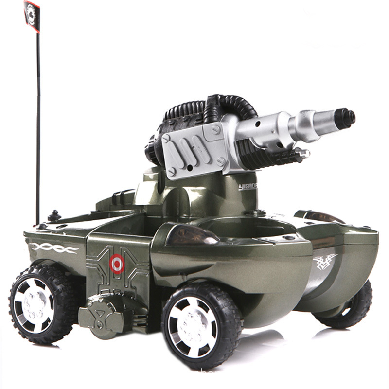RC Tank Amphibious Radio Control Rc Kit Land Water Robotic Remote Control Tank Toy For Boys Model Rc Military Plastic Battle Toy 2017 robot juguetes 1 24 large scale rc battle tank remote radio control recharge battery army model millitary tanks toy gift