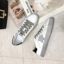 2019 Spring New White Shoes PU Stars Female Korean Students Breathable Flat Woman