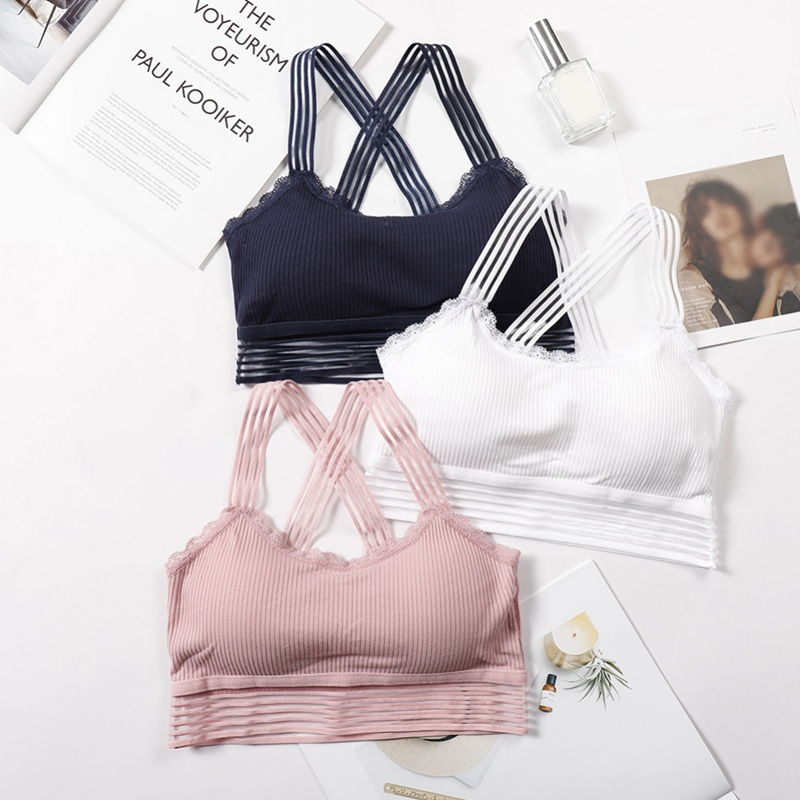 Color : 3 Silk Vest Diamond Tube Top Fitness Seamless Bottoming Anti-Glare Underwear