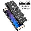 Teléfono de lujo case para xiaomi redmi 4 4pro alta calidad soft protectora de silicona volver casos de la cubierta para xiaomi redmi4 pro shell