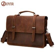 JOYIR Famous Brand Business Men Briefcase Bag Luxury Genuine Leather Laptop Bag Man Shoulder Bag bolsa maleta Briefcases &52