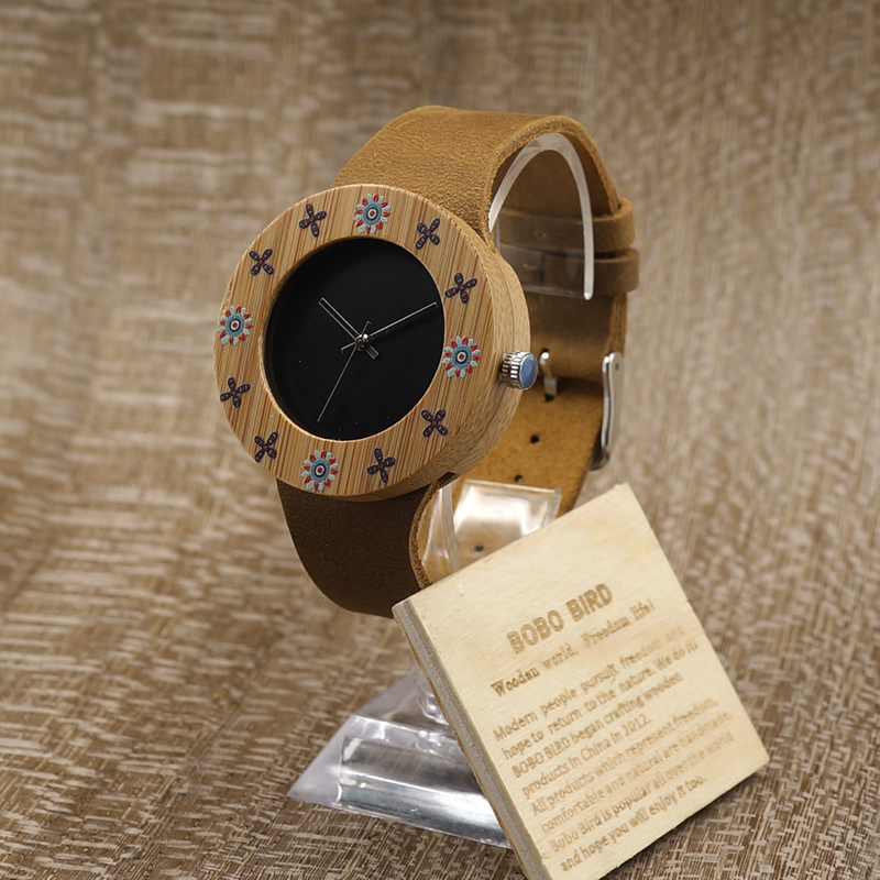 BOBO BIRD Top Design Brand Luxury Wooden Bamboo Watches For Ladies With  Real Leather Quartz Watch Women Japanese Miyota Movement-in Women's Watches