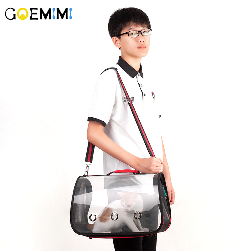New Arrival Pet Dog Carrier Bag Transparent Design Breathable Puppy Outdoor Single Shoulder S M L Size Bag Pet Products