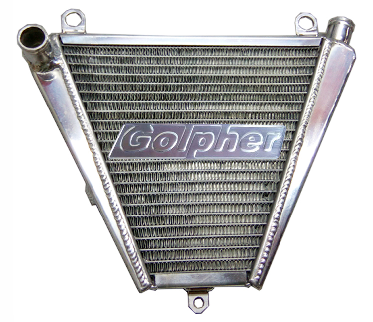 Golpher Motorcycle Aluminum Lower Radiator For PANIGALE 1199 1199S 1199R 12-15