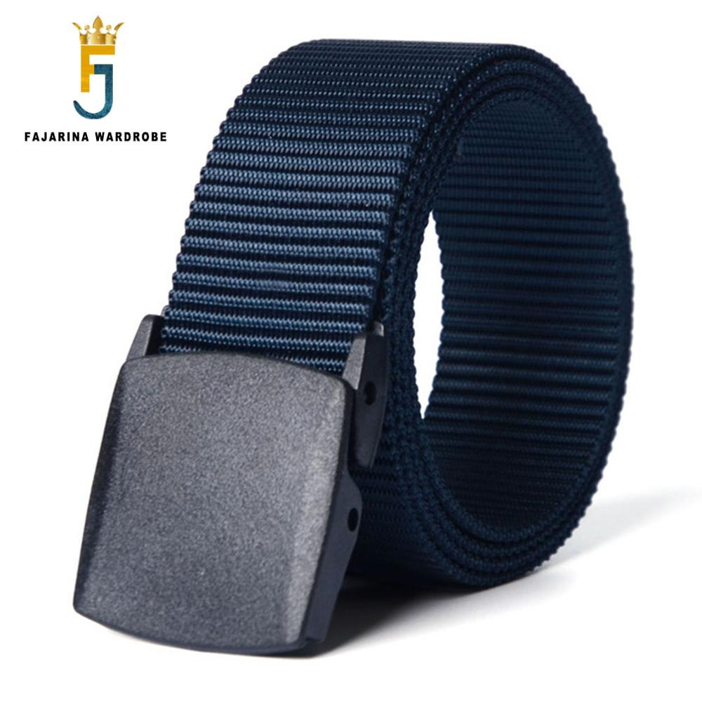 FAJARINA Plastic Automatic Buckle Nylon Belt Male Army Tactical Belt Mens Military Belts Cummerbunds Strap for Men CBFJ0010