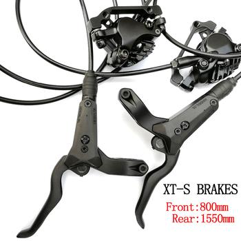 Rowerowy hydrauliczny hamulec tarczowy lewa przednia prawa tylna 800mm 1550mm AM FR MTB Mountain Bike hamulce 26 27 5 29 M8000 tanie i dobre opinie CN (pochodzenie) RACEWORK XTS M8000 Hydraulic Disc Brake (Hydraulic Brake Pad) 800MM 1550MM