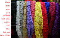 wholesale Lotus water soluble lace fabrics 30yard/lot 11 colors knitted lace fabric stereoscopic guipure lace trim Brocade silk