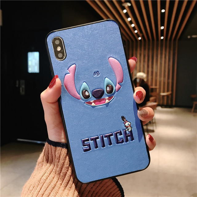 Luxury 3D Silk Cortex Three-eyed Alien Stitch for iPhone
