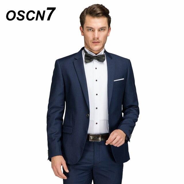 d6306394b OSCN7 Azul Royal Lã Terno Feito Sob Encomenda Clássico Moda 2018 Ternos Dos  Homens de Negócios