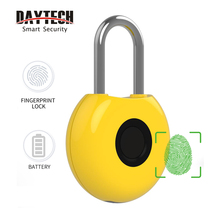 DAYTECH Fingerprint padlock for Luggage bag cabinet Smart Keyless Electronic Door Lock Rechargeable battery