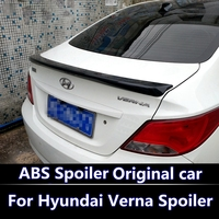 For hyundai verna spoiler accent spoiler 2011 2012 2013 2015 verna/accent spoiler Without Paint Car Rear Trunk Rear lip spoiler