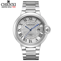 New Style Watches Men Luxury Brand CHENXI Top Quality Stainless Steel Quartz Watch Analog Date Display